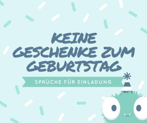 Read more about the article Bitte keine Geschenke zum Geburtstag, Sprüche für Einladung