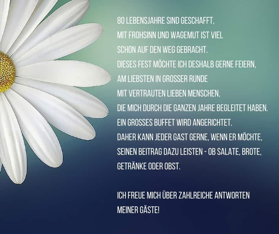 ... und Gedichte als Einladungstexte - Einladungskarten Geburtstag