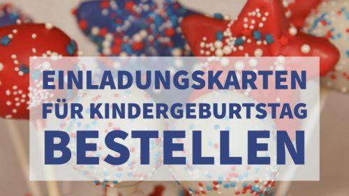 Einladungskarten für Kindergeburtstag bestellen, günstig online