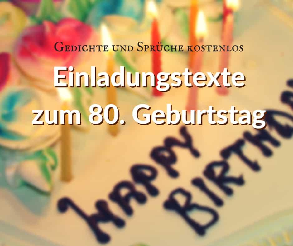 Einladung zum 80. Geburtstag, Sprüche und Gedichte als ...