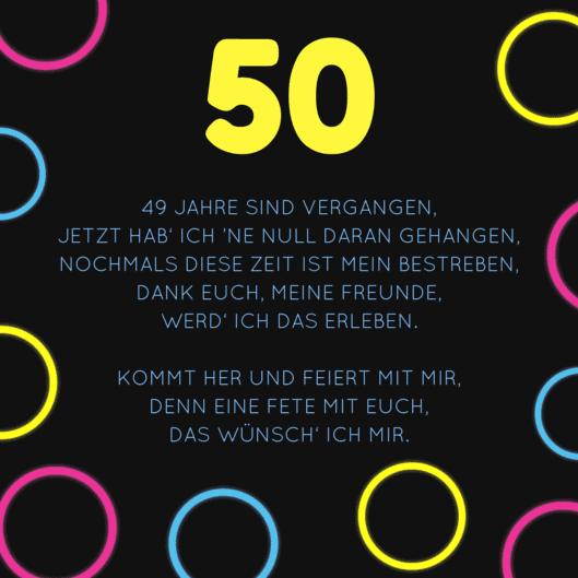 Einladung Zum 50 Geburtstag Witzige Spruche Und Gedichte Als