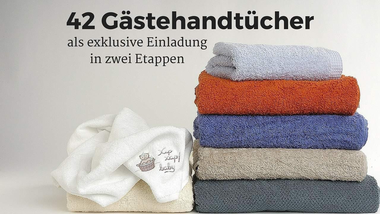 Was Hat Ein Handtuch Mit Der Zahl 42 Und Einer Exklusiven Einladungskarte  Zu Tun?
