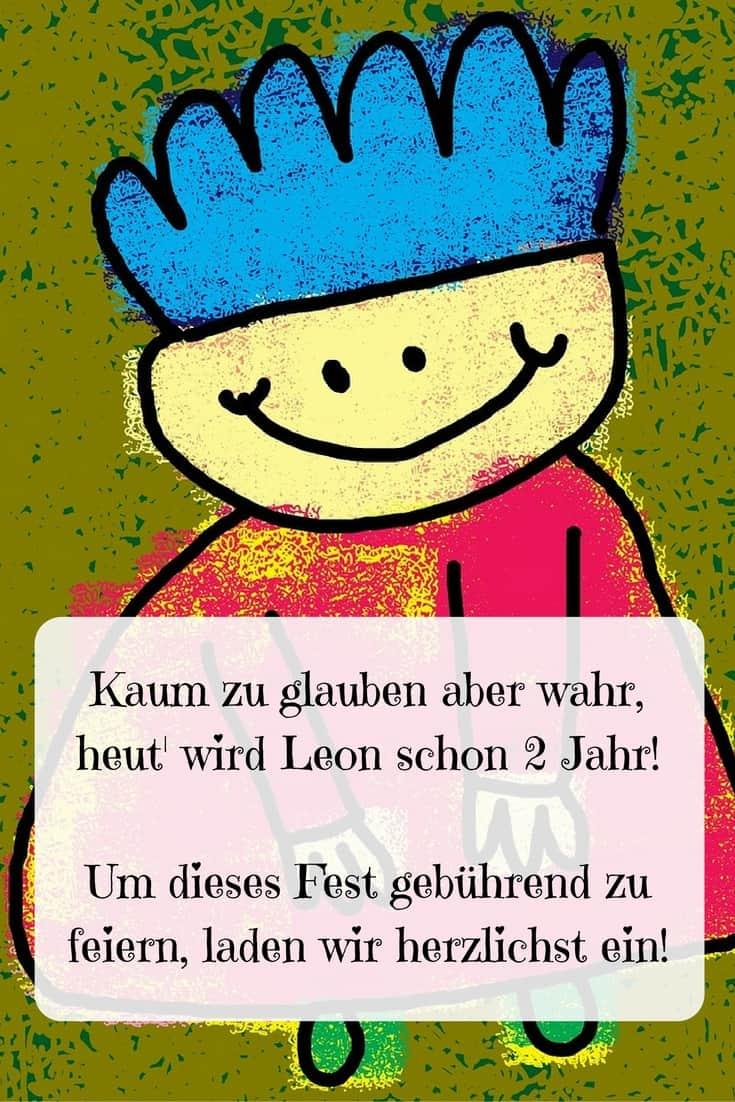 Einladung Geburtstag Spruch: Tolle Texte Für Einladung Zum 2. Geburtstag Unseres Kindes
